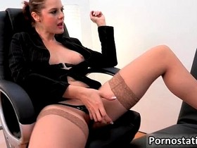 Horny perverted secretary with nice