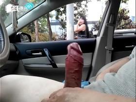 Beijing dick flash in car 20160707